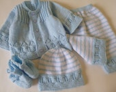 Knitted Baby Set, Newborn Set, Take Home Outfit, Cloth for Babies, Four Pces. Baby Set.