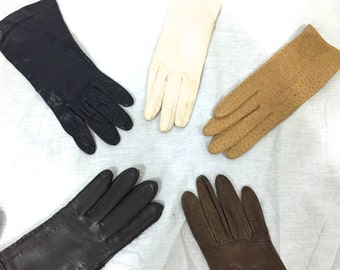 Vintage Gloves. Lot of 23 Pairs of Gloves. White. Black. Leather Gloves. Winter Gloves. Ladies Accessories. Evening Gloves. 1960s 70s.