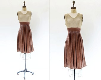 Vintage Velvet Dress Metallic Gold Dress Sparkly Knit Dress Velvet Party Dress 90s Velour Dress Copper Gold Dress Stretch Knit Dress s, m