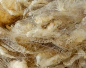 Gorgeous Raw White Romney Fleece