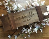 Personalized Wine Box - Customize Your Own - Choose from 4 Different Wood Stains