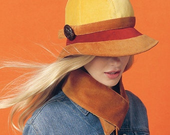 McCalls M6852 Sewing Pattern - Misses Hat Sewing Pattern - Out of Print - Uncut, FF