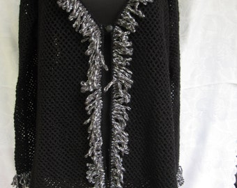 Crochet Large size Jacket-Handmade,Mother gift