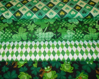 ST PATRICKS #1  Fabrics, Sold INDIVIDUALLY not as a group, by the Half Yard
