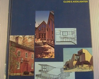 Vintage 1973 Architecture Residential Drawing and Design Hardcover Book by Clois E. Kicklighter