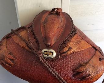 Vintage ARMADILLO Taxidermy SOUTHWEST Handbag