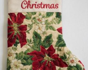 Elegant Personalized Christmas Stocking