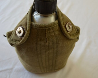Vintage U.S. ARMY Canteen with insulated bag 1940's 50's