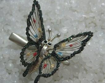 Vintage barrette,  clip sweet butterfly