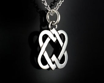 Celtic Intertwined Hearts Pendant