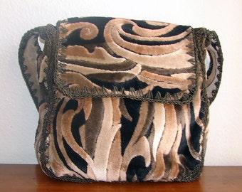 Vintage Brown Carpet Bag - Made in Italy
