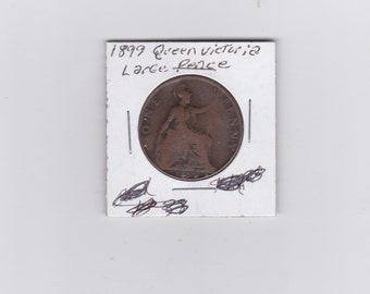 1899 Queen Victoria large penny