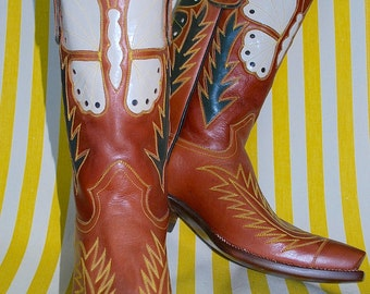 DEADSTOCK Authentic RocketBuster Butterfly Cowgirl Boots Circa 1990