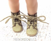 Lace Up Boots fit Disney Animator Dolls, Tan, Beige, with Stripes