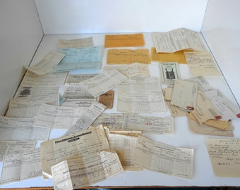 Lot of Ephemera Receipts dating early 1900s 30 pieces Railroad