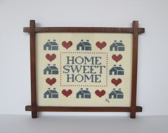 Home Sweet Home Cross Stitch Picture