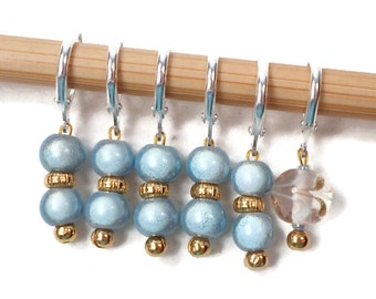 Baby Blue Locking Stitch Markers Crochet Row Markers Removable Markers Knitting Supplies DIY Crafts