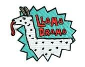 Llama Drama Iron On Patch