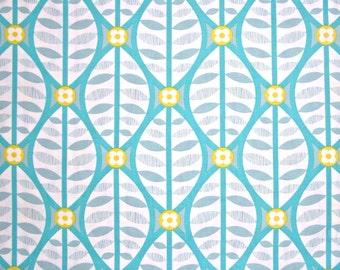 COUPON CODE SALE - Free Spirit, La De Da, Buttonwood, Grey, Turquoise, Erin McMorris, 100% Cotton Quilt Fabric, Quilting Fabric