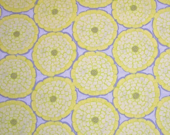 COUPON CODE SALE - End of Bolt - Moda Fabric, Modern Roses, Honey Sweet, Designer Cotton Quilt Fabric, Yellow Floral Quilting Fabric