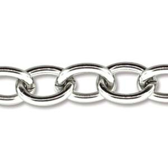 5 Feet Stainless Steel Chain Link Size 6.9mm x 4.4mm Thickness 14 Gauge