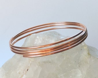 """Copper Upper Arm Bracelet - Healing Copper Upper Arm Jewelry - Armlet Armband Upper Arm Cuff - Available from 9"""" to 12"""" - Made to Order"""