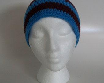 Crocheted Striped Beanie