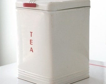 White Kreamer Tea Canister Container