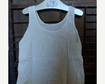 BIG SALE Antique  Handmade Worn Baby Gown N014