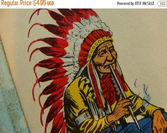 20PercentOff Rare Vintage Indiana Chief  and Horse Flash Card