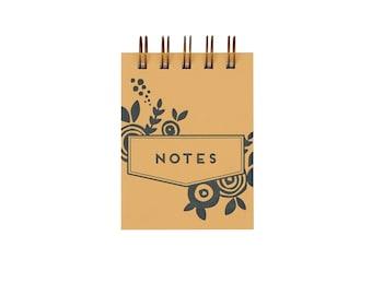 Mini Floral Jotter - Notebook | Journal | Pocket Notebook | Spiral Bound | Blank Pages