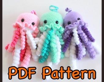 Jacob The Jellyfish - An Amigurumi Crochet Pattern - PDF - Sealife - EssHaych