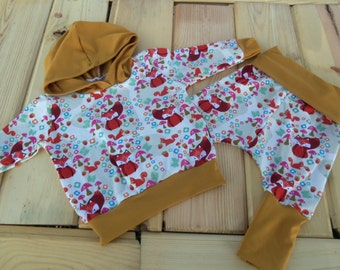 Sized 0-6 months Foxy Harem Pants and matching Hoodie