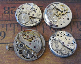 Featured - Steampunk supplies - Watch movements - Vintage Antique Watch movements Steampunk - Scrapbooking e7