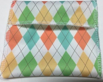 Argyle Tuckables Pouch, Small (4 x 4.5) - Cloth Menstrual Pads, Wipes, Snacks, & more