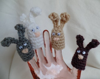 Bunny Finger Puppets - Set of 4