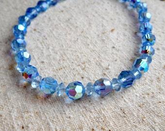 Blue Aurora Borealis  17 Inch Necklace (Item Z 79)