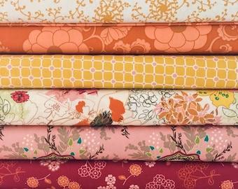 Set of 9, Art Gallery fabrics, custom bundle Wanderlust, your choice of cut (fat quarter, half yard, or yard cut)