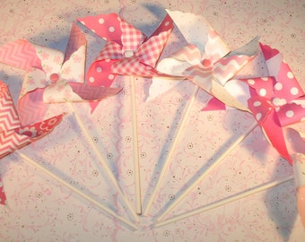 New - Pink Floral Pinwheel Collection