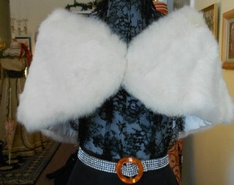 "1950's, 48""x8""x12"", shoulder fur wrap."