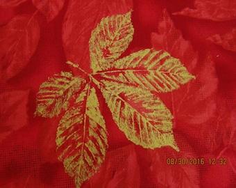 FABRIC DESTASH SALE  Floral on Cherry Red - Concord Fabrics - 1 Yard - #F23