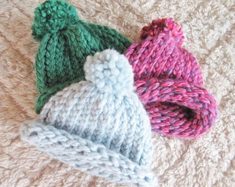 """18"""" Doll Hat Hand Knit Ready to Ship"""