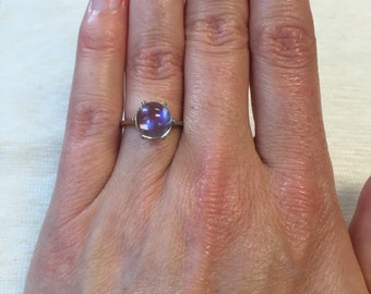 Moonstone 14k White Gold Ring