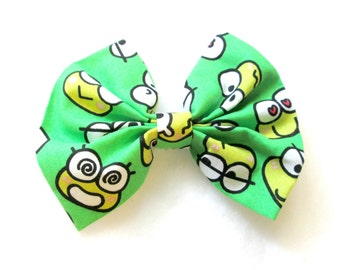 ON SALE Keroppi Inspired Patterned Fabric Bow