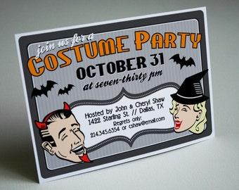 PRINTABLE Retro Halloween Costume Party Invitation or Evite