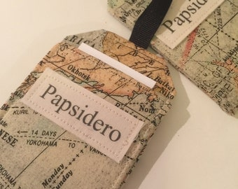 Personalized Map Luggage Tags, Surname, Last Name, Pair or Family Pack