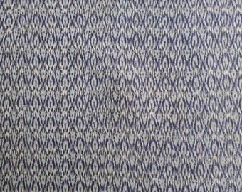 "KOFU - fabric from used Kimono,  Silk, Blue 14"" (35cm) X 17"" (43cm)"