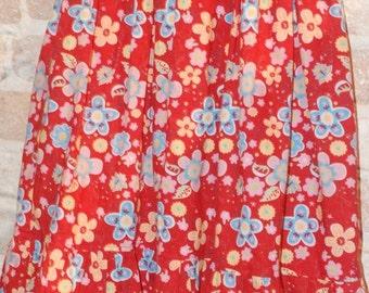 ON SALE Whimsical European Floral Ruffle Twirl Skirt- girls kids fall winter fashion - ready to ship - size 6 7 8