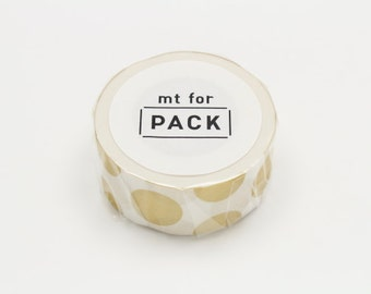 mt for pack - masking tape for packing - gold dots
