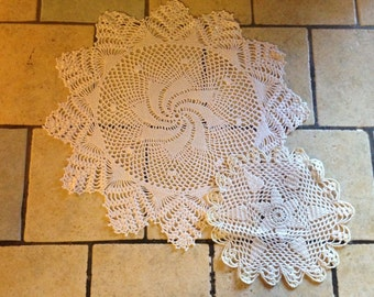 Two Small White Doilies